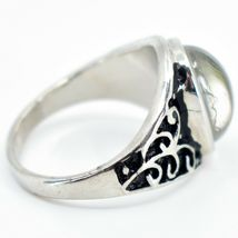 Vintage Inspired Style Silver & Black Painted Color Changing Cabochon Mood Ring image 3