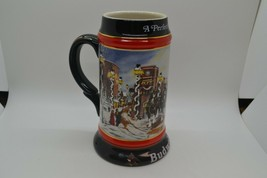 """1992 Budweiser Clydesdale Stein """"A Perfect Christmas"""" - $17.99"""