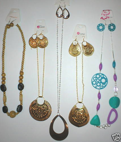 WHOLESALE LOT 15PC WOMENS JEWELRY NECKLACE EARRING SETS