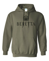 Beretta Black Logo Hoodie Sweatshirt Pro Gun Brand 2nd Amendment Rifle S... - $34.99