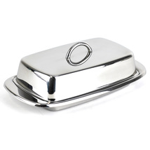 Covered butter dish, cute country stainless steel french butter dish, Si... - €13,91 EUR