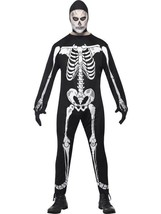 Scheletro Tuta Costume, Halloween Costume, Torace 107cm-112cm, Uomo, Ossa - $25.83
