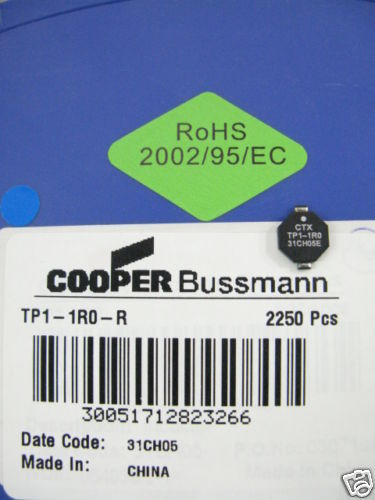 Primary image for TP1-1R0-R Cooper Bussmann 2250 PCS Inductor 1.5 amp 1uh