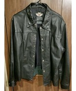 Harley Davidson Rare Snap Front Women's Leather Jacket Size XL - $101.92