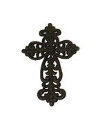 Cast Iron Ornate Inspirational Wall Cross - $9.99