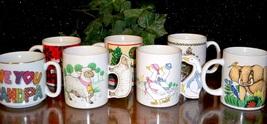 Coffee Cup Gift Lot/8 Lefton China Grampa Christmas Birthday - $8.26
