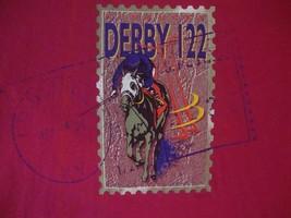 Vintage 90's Louisville Kentucky Derby 122 Horse Racing Hot Pink T Shirt XL - $17.81