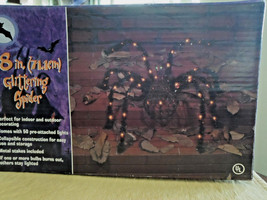 "Halloween 28"" Glittering Spider Lighted Yard Decoration - €25,82 EUR"