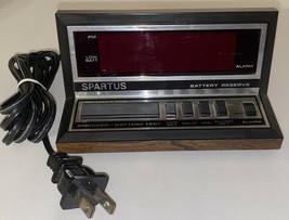 Spartus Model 1140 Vintage Electric Alarm Clock Wood Grain Tested  *WORKS GREAT* - $15.79