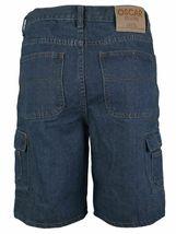 Men's Premium Cotton Multi Pocket Relaxed Fit Stonewash Denim Jean Cargo Shorts image 11