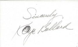 Kaye Ballard Signed 3x5 Index Card C - $24.74