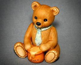 Vintage Collectible HOMCO 1405 Boy Bear with Honey Pot - $6.99