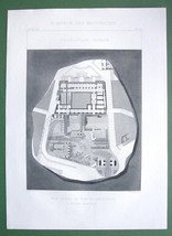 ARCHITECTURE PRINT : Italy Plan of Tabularium at Rome - $21.60