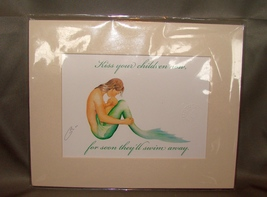 Robert Kline Kiss Your Children Art Signed Print, Matted - $15.99