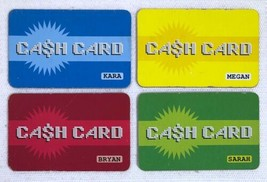 2004 Mall Madness Board Game Replacement Pieces - 4 Cash Cards Credit Cards - $8.32