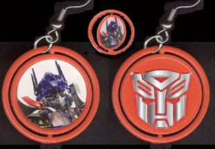 Transformers 20spinner 20earrings optimus 20prime red