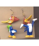 WOODY WOODPECKER EARRINGS-Vintage Mini Figure Bird Funky Jewelry - $6.97