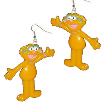 ZOE EARRINGS-Sesame Street Character Charm Funky Novelty Jewelry - $5.97
