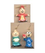 ALVIN & the CHIPMUNKS EARRINGS NECKLACE SET - TV Cartoon Jewelry - $14.97