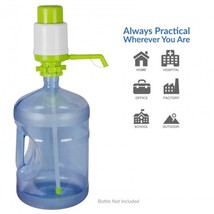 Green Water Bottle Hand Pump Dispenser For 3 & 5 Gallon Bottles Portable... - $19.78