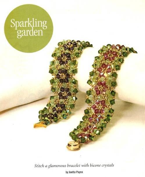 Y431 Bead PATTERN ONLY Beaded Glamorous Sparkling Garden Bracelet Pattern