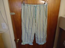 "Womens / Girls Gap Body XS Blue Multi Color Striped Pajama Pants "" BEAUT... - $10.39"