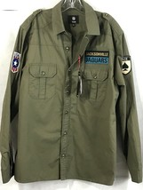 Jacksonville Jaguars Mens NFL Military Shirt NEW Cotton Team Logo Patches NWT L - $47.45