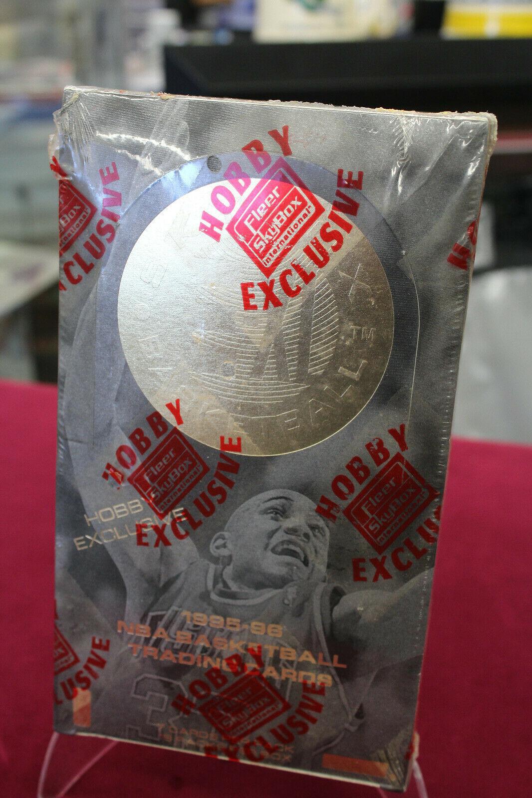 1995-96 Fleer Skybox Basketball E-XL Hobby Factory Sealed Box Jordan Garnett RC - $1,386.00