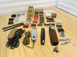 Vintage Hair Clippers Lot - Andis - Oster - Wahl from Barber Shop See Photos - $93.14