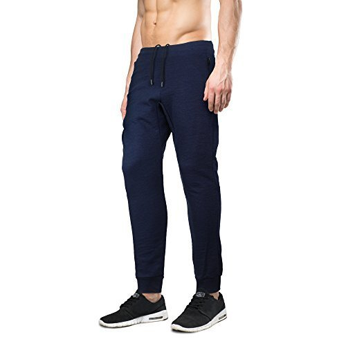 Indigo people Men's Limited Edition Slim Fit Jogger Sweat Pants (Large, Navy)