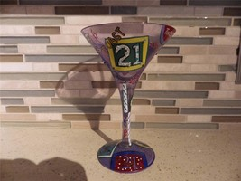 "Lolita Martini Glass ""21"" Birthday Legal Age - $23.76"