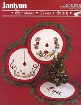"Classic Christmas Cross Stitch 18"" Mini Tree Skirts Janlynn Pattern Leaflet - $3.57"
