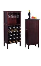 New Wood Wine Cabinet Bottle Holder Storage Kit... - $48.17
