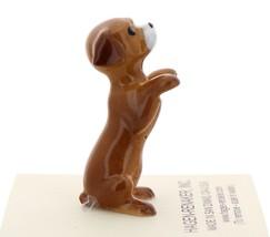 Hagen-Renaker Miniature Ceramic Dog Figurine Shelter Pup Begging - $8.49