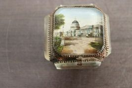 "Rare Vintage Regency 10"" Decorative Capitol Building Box Vanity Jewelry Trinket image 4"