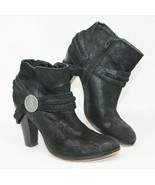 Miranda Lambert Size 6 M Black 'Craig' Leather Side Zip Boot Bootie Shoes - $56.99