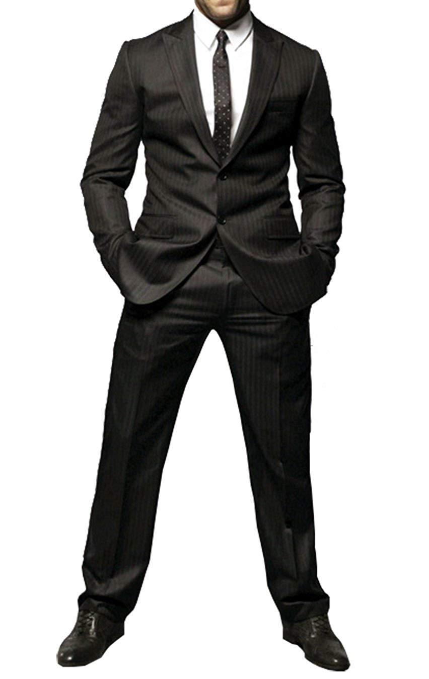 Mens jason statham transporter 2 piece black suit