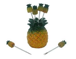 Pineapple Polyresin Dining Picks For Elegant Food Decoration Gift Set of... - $162,11 MXN