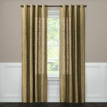 "Threshold Textured Weave Window Curtain Panel 54"" x 84"" Grommet Top Brow... - $29.69"