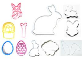 Easter Bunny Rabbit Large Kit Basket Egg Set Of 11 Cookie Cutters USA PR... - $25.99