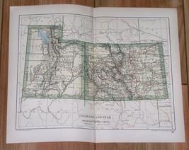 1894 ORIGINAL ANTIQUE MAP OF COLORADO AND UTAH - $9.90