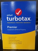 Intuit TurboTax Premier 2016 Software CD Investments & Rental Property W... - $27.94