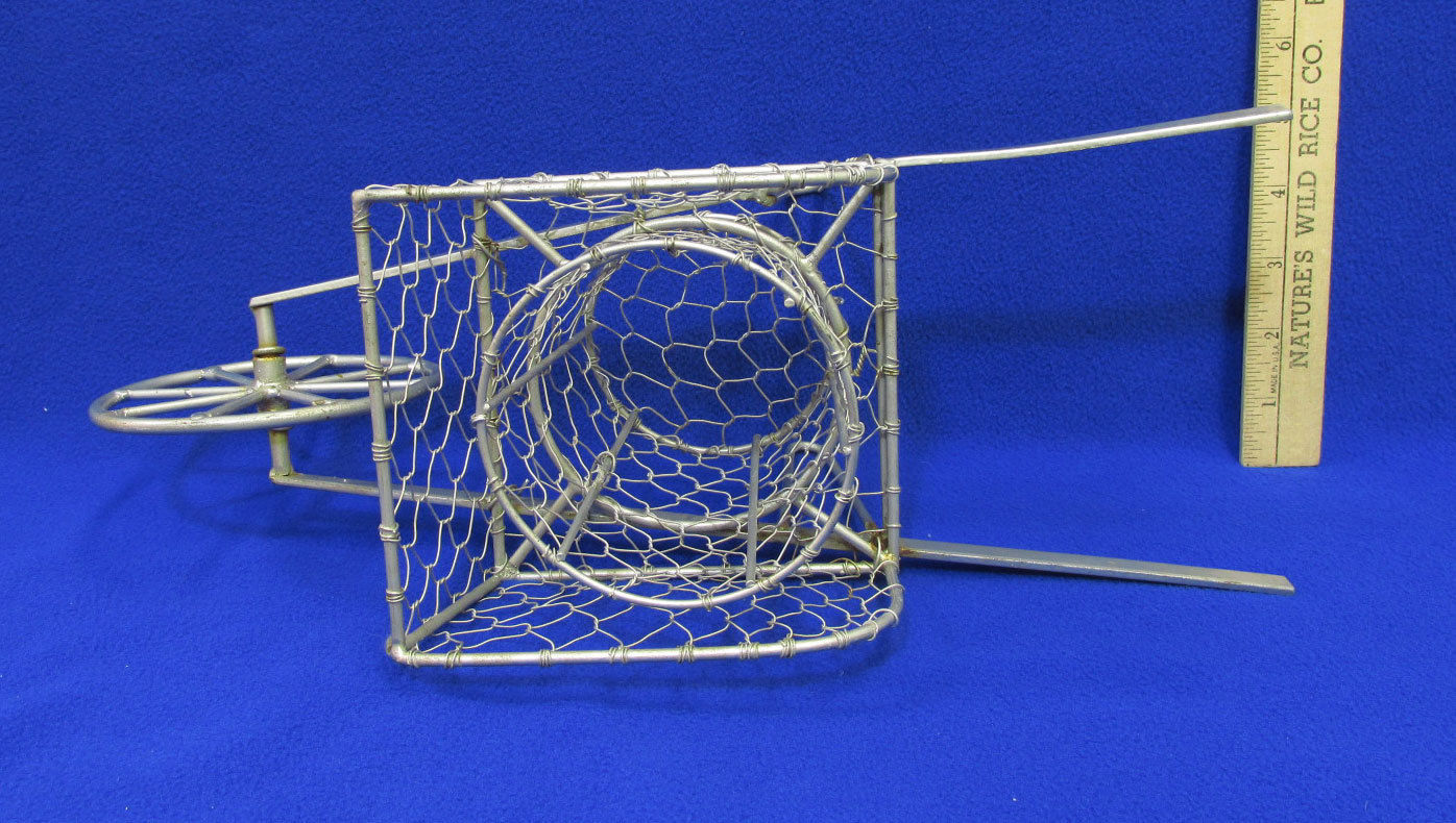 "Silver Color Metal Wire Wheelbarrow Planter Flower Pot Holder Decorative 6"" Tall"