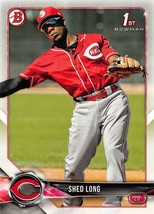 2018 Bowman Prospects #BP78 Shed Long NM-MT Reds - $0.99