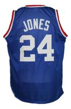 Bobby Jones #24 Denver Aba Retro Basketball Jersey New Sewn Blue Any Size image 2