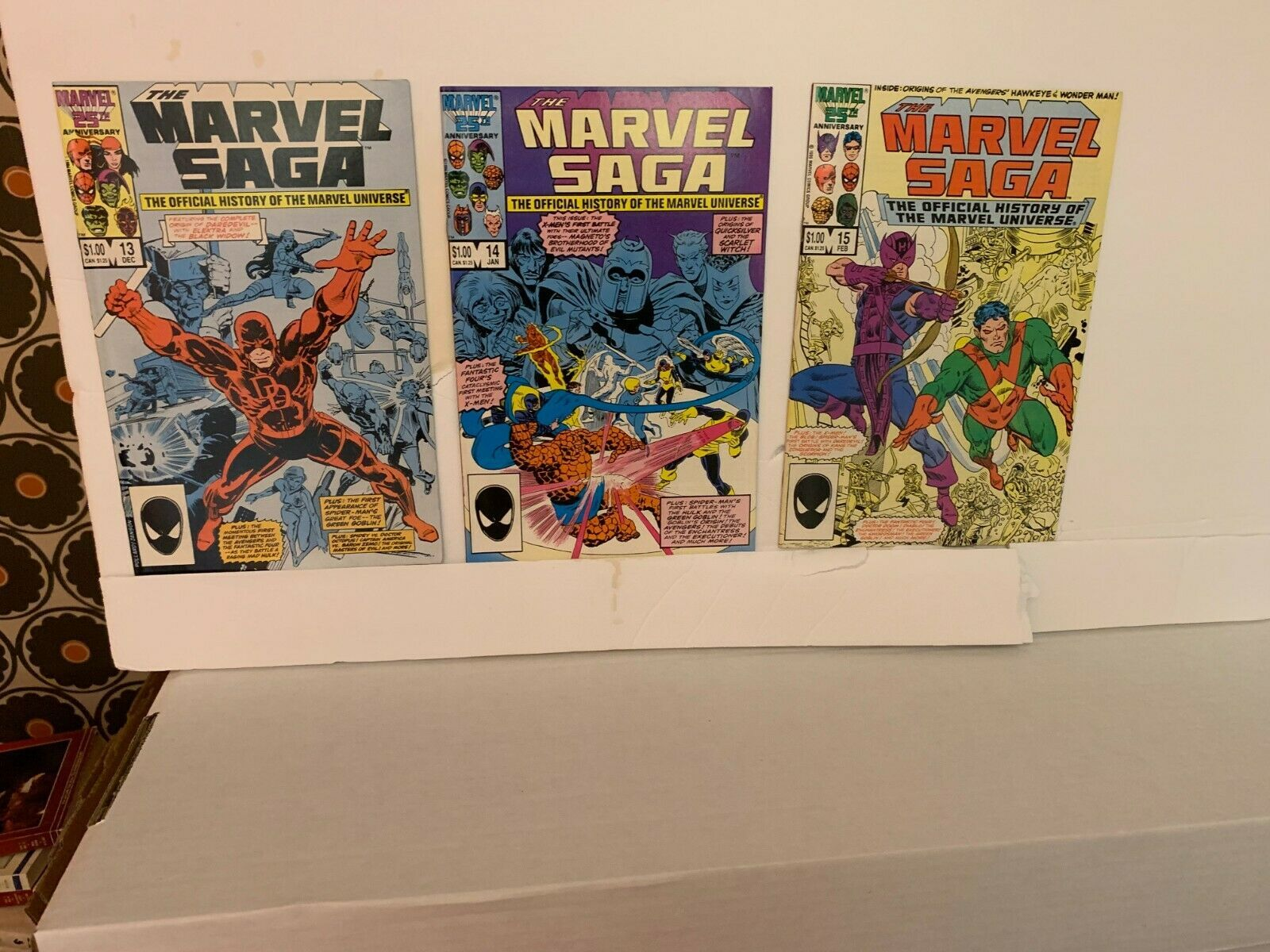 MARVEL SAGA (MARVEL COMICS) 1985-1987 VF 15 BOOK LOT WITH FREE SHIPPING