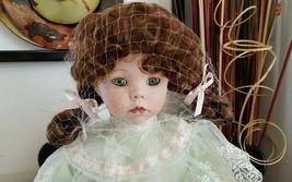 "Seymour Mann MAUREEN Porcelain Victorian Doll Limited Edition 1989 COA 16""  - $49.49"
