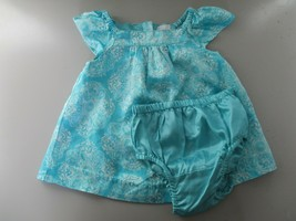 Baby Gap Size 0-3 Months Blue Floral Short Sleeve Dress and Diaper Cover... - $20.80