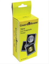 10 Guardhouse 2x2 Tetra Snaplock Coin Holders for Nickel 21.2mm image 1