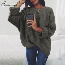 Simenual sweaters fashion 2018 women clothing loose casual solid pullove... - $39.07
